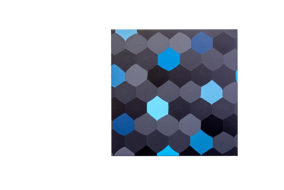 Blue Tempered Sky, 70 x 70 cm, acrylic on canvas, 2019