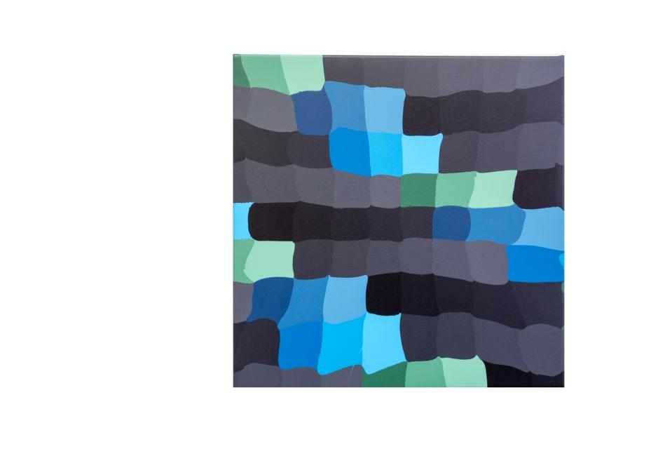 Constant Mutation, 60 x 60 cm, acrylic on canvas, 2019