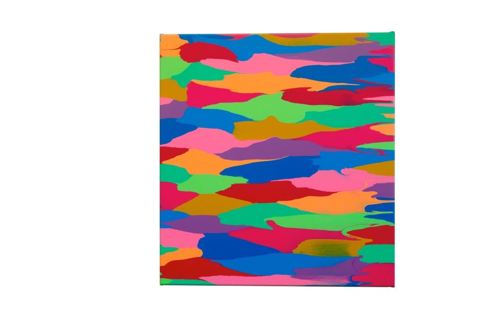 Urban Solitude, 70 x 65cm, acrylic on canvas, 2019