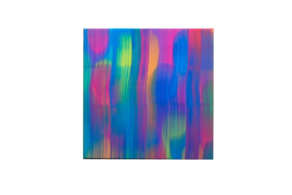Swipe into the Now, 40 x 40 cm, acrylic on canvas, 2019
